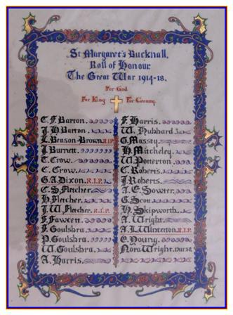 Roll Of Honour Lincolnshire Bucknall