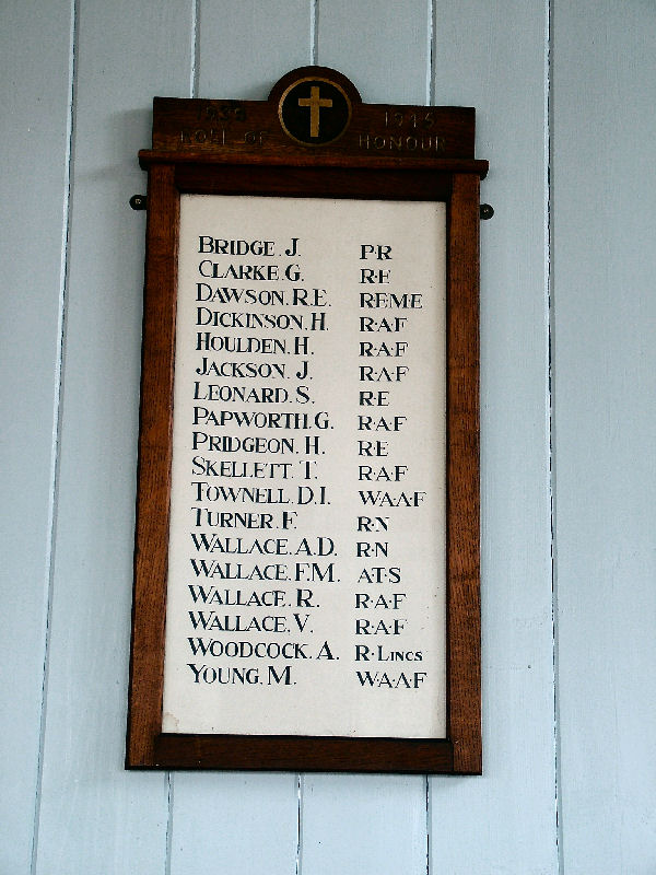 Roll Of Honour Lincolnshire Southery