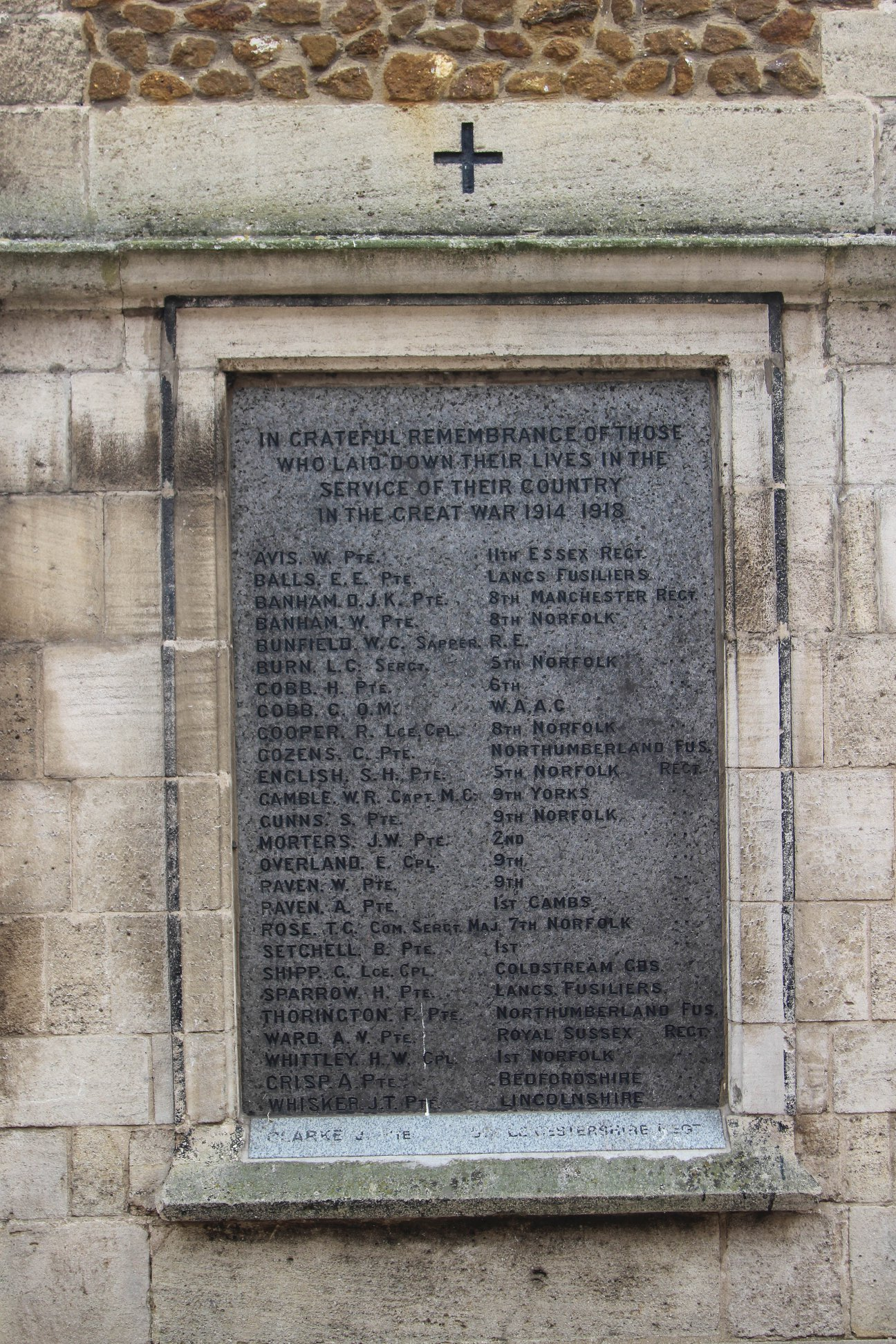 Roll of Honour - Norfolk - Gaywood