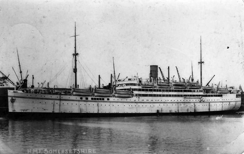 Roll Of Honour Ships Hm Troopship Somersetshire