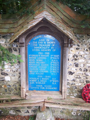 Roll Of Honour Wiltshire Wilsford